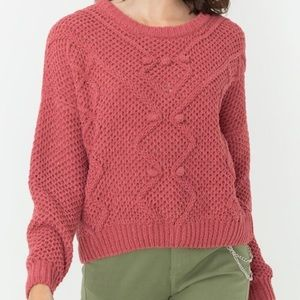 Love Tree Cropped Mauve Pink Cropped Sweater Like New Large